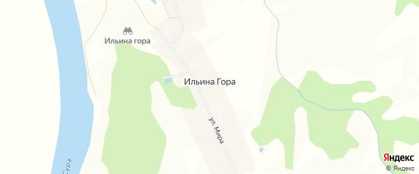 Карта села Ильины Горы в Чувашии с улицами и номерами домов