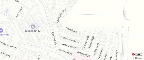 Новый переулок на карте Гудермеса с номерами домов