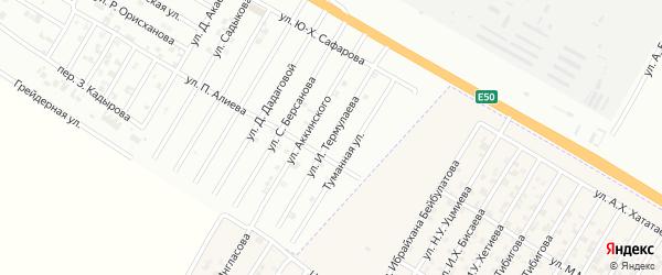 Улица И.Термулаева на карте Гудермеса с номерами домов