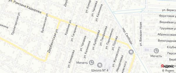 Улица Кутузова на карте Гудермеса с номерами домов