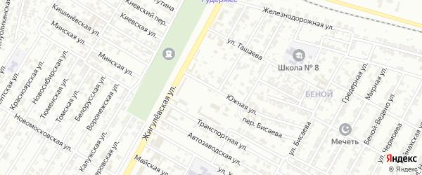 Южная улица на карте Гудермеса с номерами домов