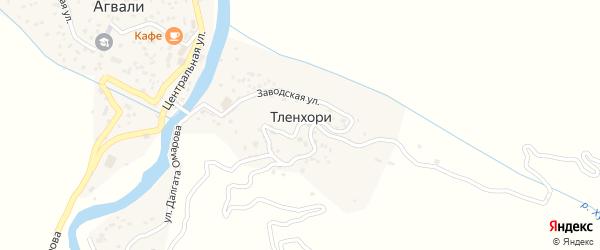 Заводская улица на карте хутора Тленхори с номерами домов