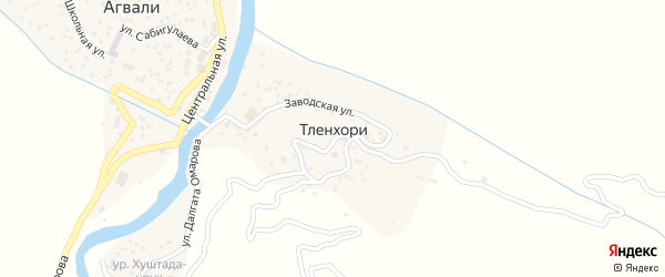 Улица Далгата Омарова на карте хутора Тленхори с номерами домов