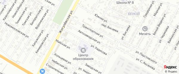Автозаводская улица на карте Гудермеса с номерами домов