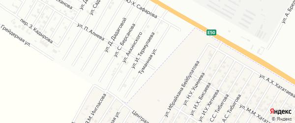 Туманная улица на карте Гудермеса с номерами домов