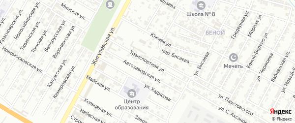 Транспортная улица на карте Гудермеса с номерами домов