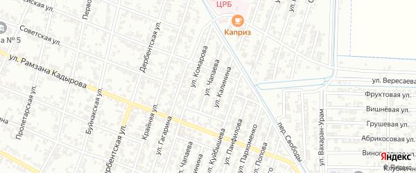 Улица Чапаева на карте Гудермеса с номерами домов