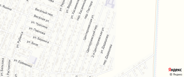 Центероевский переулок на карте Гудермеса с номерами домов