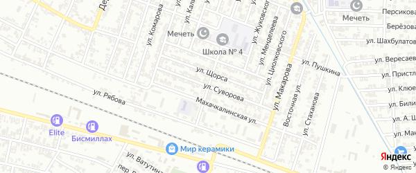Улица Суворова на карте Гудермеса с номерами домов