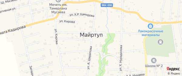 Школьная 2-я улица на карте села Майртуп с номерами домов