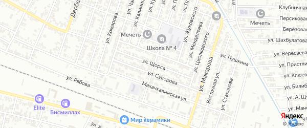 Улица Щорса на карте Гудермеса с номерами домов