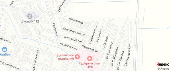 Радужная улица на карте Гудермеса с номерами домов