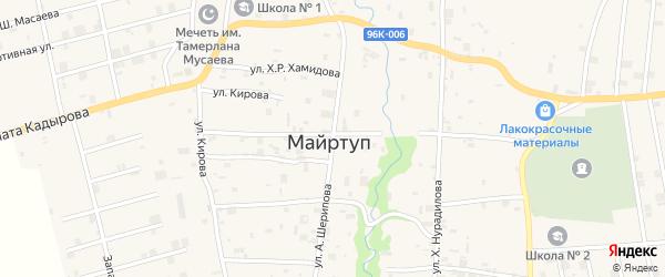 Улица А.Шерипова на карте села Майртуп с номерами домов