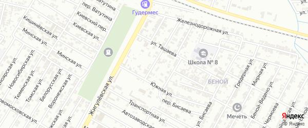 Улица Центральная Усадьба на карте Гудермеса с номерами домов