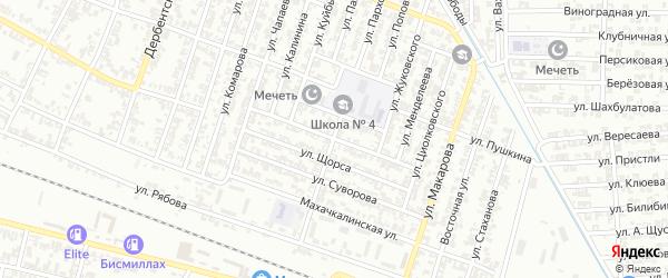Улица Фрунзе на карте Гудермеса с номерами домов