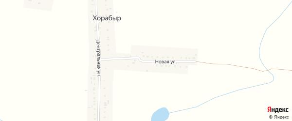 Новая улица на карте деревни Хорабыр с номерами домов