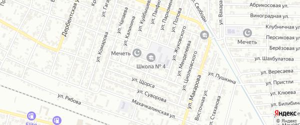 Улица Котовского на карте Гудермеса с номерами домов