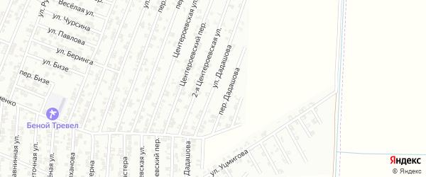 Улица Дадашова на карте Гудермеса с номерами домов
