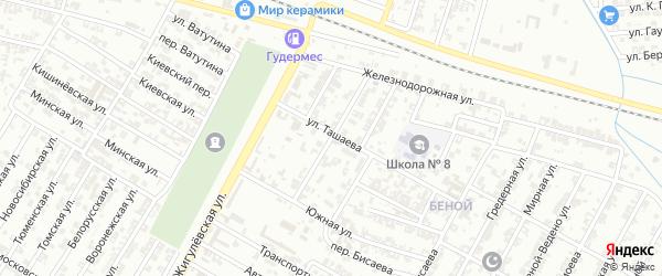 Мартовская улица на карте села Нового Энгеной с номерами домов