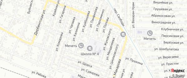 Улица Пархоменко на карте Гудермеса с номерами домов