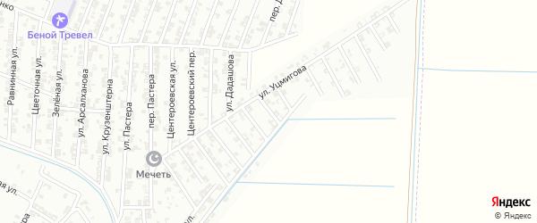 Улица Бородина на карте Гудермеса с номерами домов