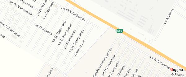 Туманный переулок на карте Гудермеса с номерами домов