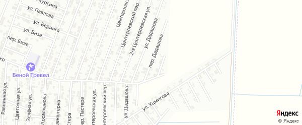 Переулок Дадашова на карте Гудермеса с номерами домов