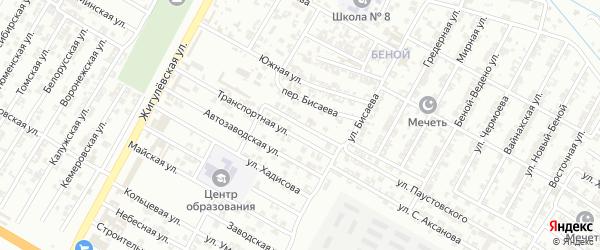 Улица Исмаилова на карте Гудермеса с номерами домов