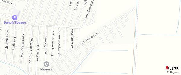 Улица Уцмигова на карте Гудермеса с номерами домов