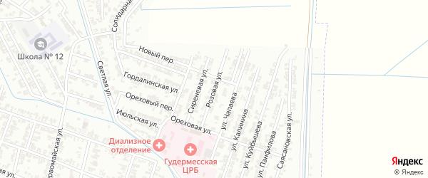 Розовая улица на карте Гудермеса с номерами домов