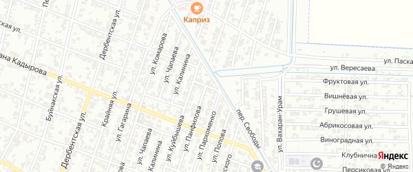 Улица Нахимова на карте Гудермеса с номерами домов