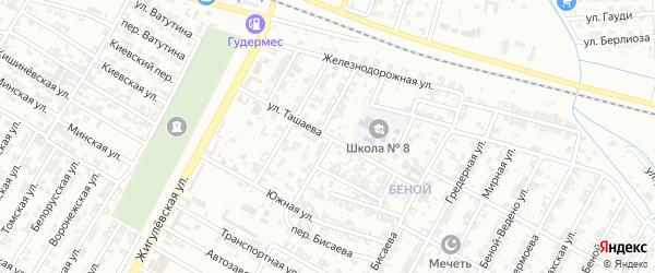 Центральная улица на карте села Бильтой-юрт с номерами домов