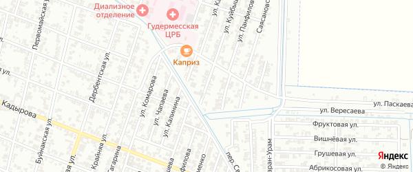 Улица Куйбышева на карте Гудермеса с номерами домов