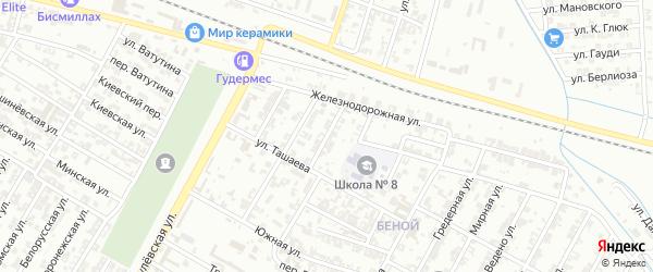 Алханская улица на карте Гудермеса с номерами домов