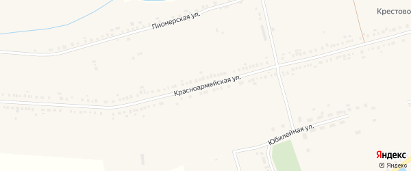 Красноармейская улица на карте села Красные Четаи с номерами домов