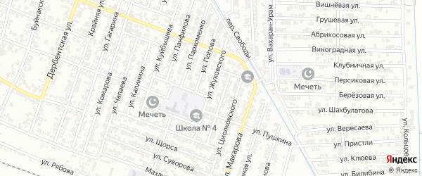 Улица Жуковского на карте Гудермеса с номерами домов