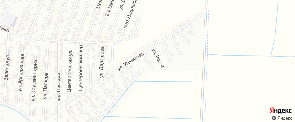 Переулок Росси на карте Гудермеса с номерами домов