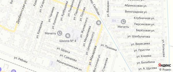 Улица Менделеева на карте Гудермеса с номерами домов