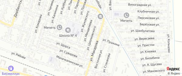 Улица Циолковского на карте Гудермеса с номерами домов