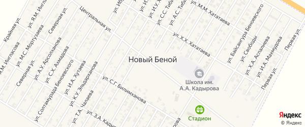 Улица Мортузаева Мовсара Сайдмагомедовича на карте Н.Беноя поселка с номерами домов