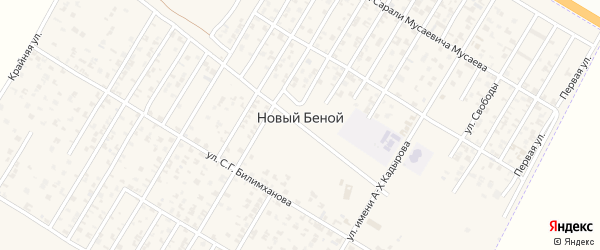 Улица Н.У.Уцмиева на карте Н.Беноя поселка с номерами домов