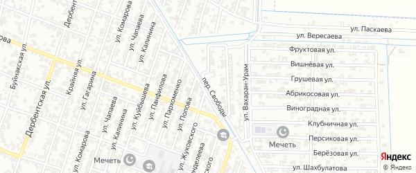 Переулок Свободы на карте Гудермеса с номерами домов