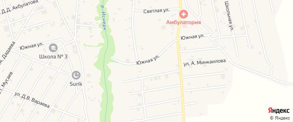 Южная улица на карте села Майртуп с номерами домов