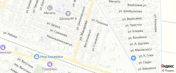 Восточная улица на карте Гудермеса с номерами домов