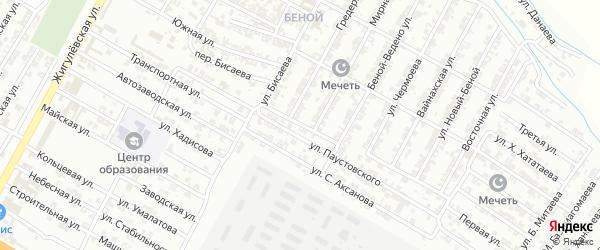 Владикавказская улица на карте Гудермеса с номерами домов