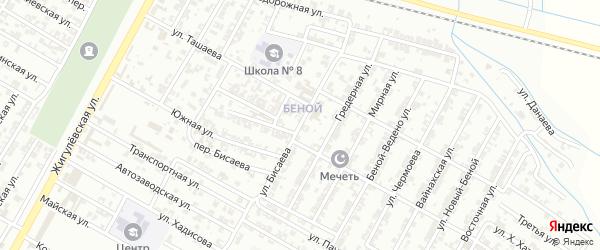 Улица И.Х.Бисаева на карте Н.Беноя поселка с номерами домов