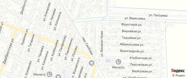 Улица Маршонан-урам на карте Гудермеса с номерами домов