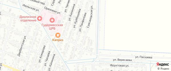 Саясановская улица на карте Гудермеса с номерами домов