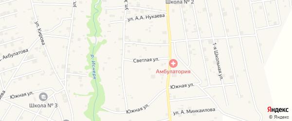 Светлая улица на карте села Майртуп с номерами домов