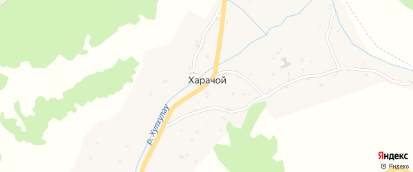 Улица М.Цадаева на карте села Харачой с номерами домов